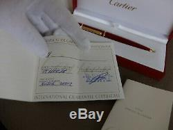 Cartier Diabolo Stylo À Bille Très Rare! 100% Nouveau Complète W Box / Garantie