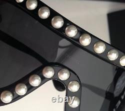Chanel Pearl Noir Sexy Runway Lunettes De Soleil Lunettes De Soleil Nouvelle Boîte N Sac Vendu Rare