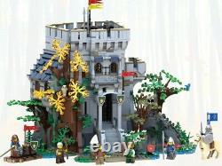 Château Lego Bricklink Dans La Forêt Rare 910001