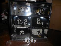 Derek Jeter New Era Limited Edition 6 Hat Pack Box Rare 2/180 Numéro De Maillot
