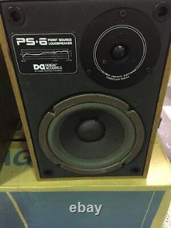 Design Acoustique Ps-6 Haut-parleurs Pair Tout Neuf Dans La Boite! Vintage Rare