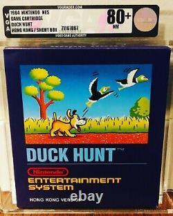 Duck Hunt 1984 Boîte Bleue De Hong Kong Scellée Vga 80+ Rare Print! Nes Nintendo