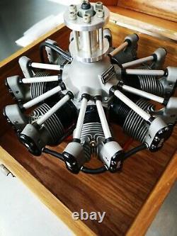 Fabulous Rare Robart R780 7 Modèle Radial Cylindre Moteur D'aéronef À La Case