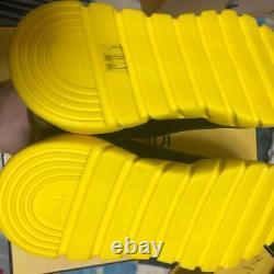 Fendi Socks Sneakers Hommes Chaussures Jaune Super Rare 28cm Us10 New In Box Fashion