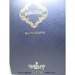 Guerlain Shalimar Pour Les Femmes Edt 4,2 Oz / 125 ML Splash Box Rare Vintage