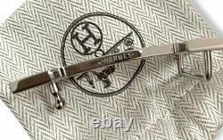 Hermès Rare Black Crocodile Alligator Belt Buckle Quizz Marquete 32 Mm, Nouveau, Boîte