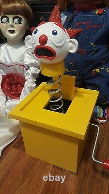 Jack In The Box Prop Pour Chucky Good Guy Doll Child's Play 2 Movie Rare & Real