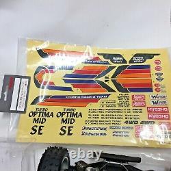 Kyosho 3136h Turbo Optima MID Se Projet Nouveau No Box Nos Jamais Utilisé Rare Vtg