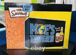 La Boîte À Lumière Simpsons Moes Tavern Duff Beer Rare 2004 18x14x4