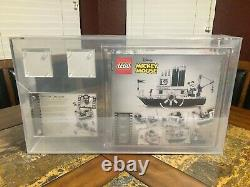 Lego 2019 Mickey Mouse Steamboat Willie Sdcc 21317 Boîte D'erreur Afa 8.0 Signé Rare