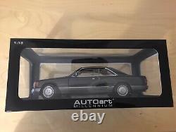 Mercedes Benz 500 Sec W126 C126 Autoart 1/18 Black Ultra Rare Brand New Boxed