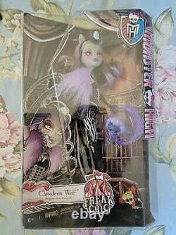 Monster High Freak Du Chic Clawdeen Wolf Doll Nouveauté En Boîte Rare Et Retraitée