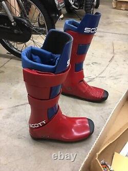 Nos Vintage Scott MX Motocross Boots Original Unused Ahrma Avec Box Rare Collect