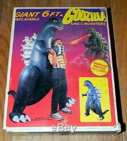 Nouveau Dans Box 1985 Vintage Giant 6' Gonflable Godzilla Imperial Company Rare Toy
