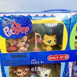 Nouveau En Box Petite Boutique D'animaux De Compagnie Lps Target Exclsuive 12 Animaux De Compagnie W Rares #748 #750