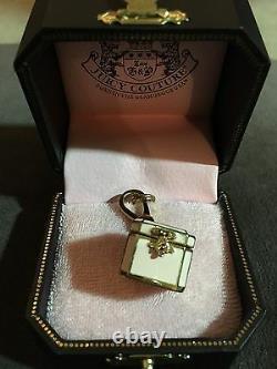 Nouveau Juicy Couture Jewelry Box Charm Yjru261 Charm Cz Heart Inside Rare