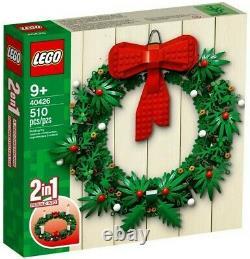 Nouveau Lego 40426 Couronne De Noël 2-en-1 Rare Ensemble À La Retraite