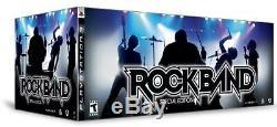 Nouveau Ps3 Rock Band Special Edition Bundle Kit Batterie Guitar Jeu MIC Rare No Box