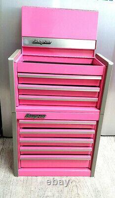 Nouveau Snap-on Pink Micro Tool Box Rare Top - Bottom Set Mini-replica Jewelry