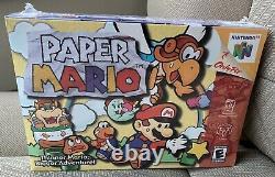 Papier Mario Nintendo N64 Factory Sealed Jeu Vidéo Nouveau Dans La Boîte! Très Rare