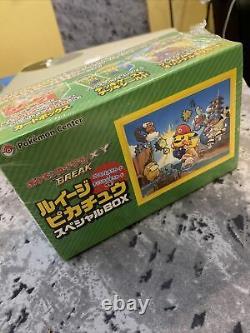 Pokemon Center Japonais (mario) Luigi Pikachu Card Box 295/xy-p 296 Xy-p Scellé