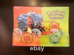 Pokemon Ex Rouge Feu Vert Feuille Thème Pont Case Scellé En Usine Ships Box À Partir Des États-unis
