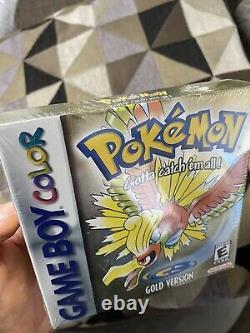 Pokemon Gold Version Jeuboy Couleur Usine Scellée Dented Box Rare Trusted Vendeur