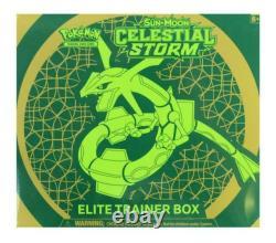 Pokemon Sun & Moon Célestial Storm Elite Trainer Box Rare! Marchandises Libertées