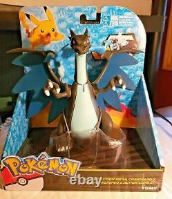 Pokemon Tomy Battle Action Mega Charizard X Figure New In Box 2016 Jouet Très Rare