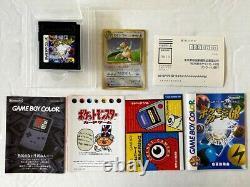 Pokemon Trading Card GB Cib Dragonite Promo Japonais Holo Rare Game Boy