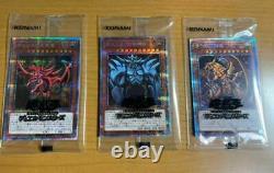 Prismatic God Box Prismatic Secret Rare Pgb1-jps01 03 Slifer Ra Obelisk 3 Set
