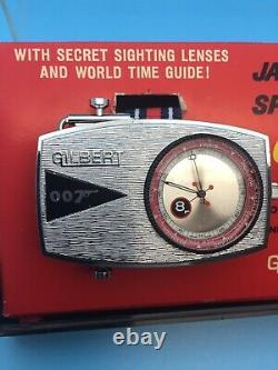 Rare 1965 James Bond 007 Gilbert/glidrose Spy Wrist Watch Menthe Boxed