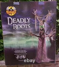 Rare 2017 Esprit Halloween Deadly Roots Taille De La Vie Animatronique Prop Nouveau En Box
