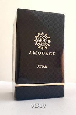 Rare Black Box Amouage Attar Sandales 12 Ml, Nouveau Dans Une Boîte