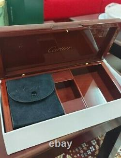 Rare Cartier Boite À Bijoux Boite En Bois Montres Accessoires Nouveau Non Utilisé Avec Originalbox