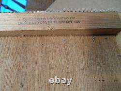 Rare Fender Sam Hutton Tweed Clock Des Années 1980 Dans La Boîte D'expédition Originale Nos