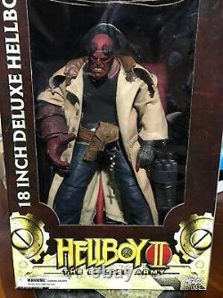 Rare Nouveau Dans La Boîte Hellboy 2 The Golden Army 18 Pouces Figure Bouche Ouverte