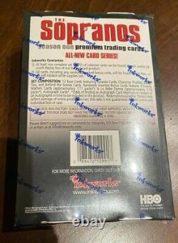 Rare Nouvelle Marque D'encre Scellée Sopranos Hobby Card Box! Cartes Autographes