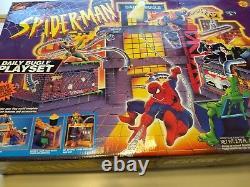 Rare Vintage 1995 Spiderman Daily Bugle Playset Jouet Biz Marvel Nouveau Mib