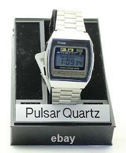 Rare Vintage Pulsar (seiko) Y760-5039 Jeu Numérique Watch 1981 Boxed Nos Japon