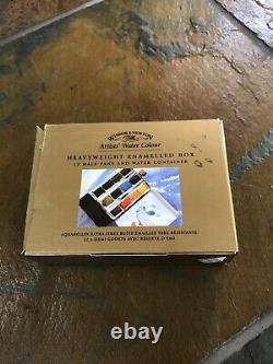 Rare Vintage Winsor Newton, Boîte Émaillée Poids Lourd, Conteneur D'eau, 12 Poêles
