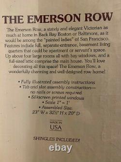 Rare Vtg Greenleaf The Emerson Row Maison De Poupée En Bois Victorienne Scelled Box Nouveau