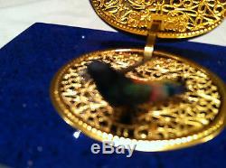 Reuge Musique Très Rare, Le Real Lapis-lazulit Mécanique Chanter Boîte Oiseau