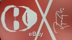 Roger Taylor Reine Signé Drum Head Baguettes Vinyle Box Set # 009 Rare Mint Nouveau