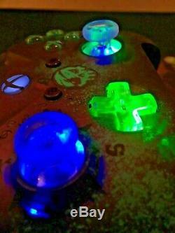 Sea Edition Limitée Voleurs De Jeu Microsoft Xbox One Controller Rare Led Mod