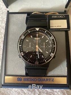 Seiko Vintage Montre 7a38-7080 Nos Rare Box 100 Sport 1984 80