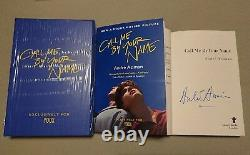 Signé Andre Aciman Call Me By Your Name Box Set Rare Paperback Book Post Cards