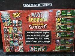 Spiderman Vs Sinister 6 2004 Toybiz Marvel Légendes Usine Scellée Rare Sp-1