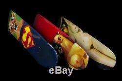 Suprême / George Condo (3) Pont Ensemble Complet Skateboards Ss10 Logo Box Rare