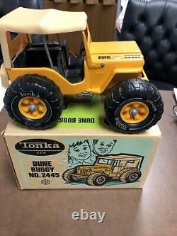 Tonka 1970-71 N ° 2445 Jeep Dune Buggy Rare Jaune Dans La Boîte Super Nice